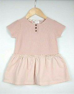 Vestido Bebê Rosa Linha Zara