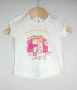 Blusa Bebê Menina Branca Benetton