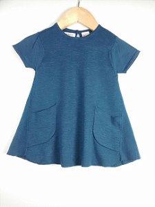 Vestido Bebê Azul Marinho Zara Knit Wear