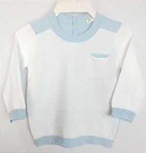 Suéter Bebê Infantil Branco Bolso Benetton