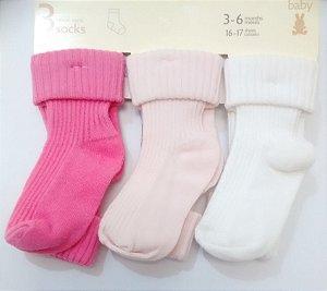 Meias Bebê kit Menina Colors Benetton