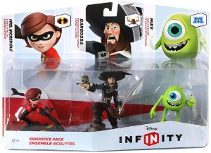 Disney Infinity Figure 3-Pack - Sidekicks - Mike, Barbossa, Mrs. Incredible