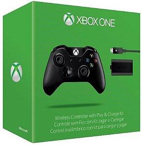 Controle Sem Fio Com Kit Jogar e Carregar Para Xbox One