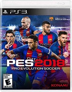 Pré-Venda PES 18 - Pro Evolution Soccer 12/09/2017 - PS3