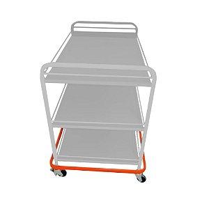Carro para transporte de alimentos em inox- 5009I