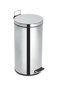 Lixeira Inox com Pedal e Balde Elegance - 15 litros - Cód. 43360