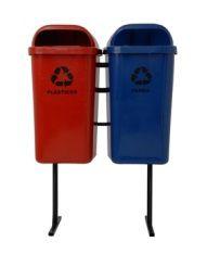 Conjunto de coleta Seletiva 2 Cestos Plasticos 50 litros