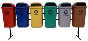 Conjunto de coleta Seletiva 6 Cestos Plasticos 50 litros - Cód. L361