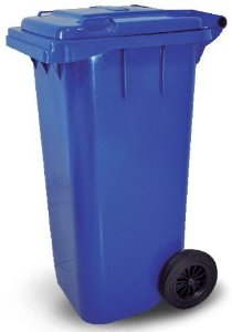 Carrinho Coletor de Lixo 120 Litros sem pedal - Cód. L28