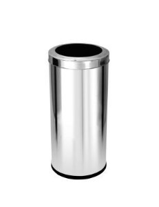 Cesto para lixo em aço inox com tampa Aro 22 Litros - Cod. C32