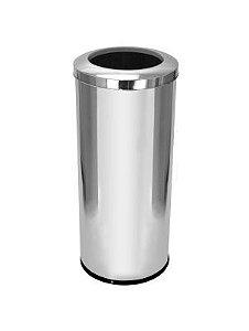 Cesto para lixo em aço inox com tampa Aro 50 Litros - Cod. C34