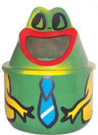 Lixeira em Fibra de Vidro Modelo Sapinho 25 Litros - Cód. 1004