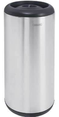 Lixeira em aço inox com aro e tampa em polipropileno 15 litros Tramontina - Cód. 94540/010