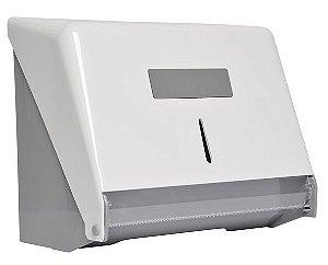 Porta papel bobina injetado com a frente em plástico ABS branco - Cod. N8