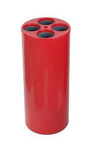 Dispensador de copos usados com 4 tubos para copos de água