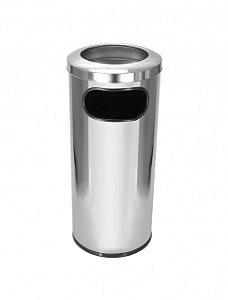Cinzeiro lixeira em aço inox 50 litros