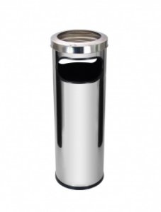 Cinzeiro lixeira em aço inox 30 litros