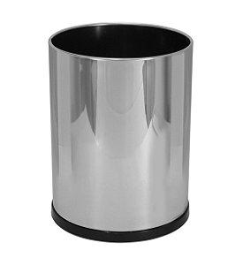 Cesto de lixo em aço inox sem tampa 13,5 litros - Cód. E3