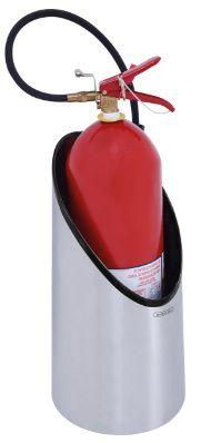 Porta Extintor Tramontina em Aço Inox com Acabamento Scotch Brite