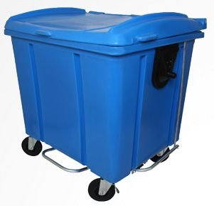 Container de lixo 1000 litros Roto Moldado Com pedal - Cód. 406