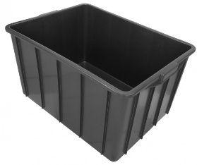 Caixa plástica com capacidade para 140 Litros Sem Tampa