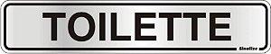 Placa de Sinalização Alumínio TOILETTE - 5 x 25 cm