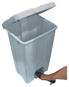 Cesto plástico com tampa e pedal plástico 60 Litros