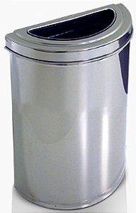 Cesto meia-lua em Aço Inox c/semi aro em Inox 18 litros