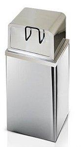 Lixeira em aço inox Fast Food em Aço inox 100 Litros - Cod. 401I