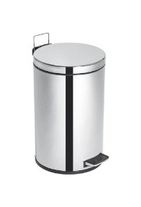 Lixeira Inox c/ Pedal e Balde Elegance - 12 litros