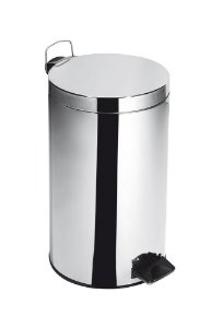 Lixeira Inox c/ Pedal e Balde Elegance 20 Litros - Cod. 45500