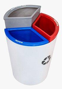 Lixeira Mix 3 capacidade 50 litros