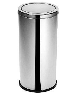 Lixeira Inox c/ tampa meia esfera 50 Litros - Cod. 44380