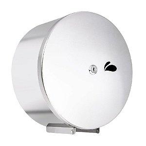 Dispenser de parede para rolo de papel higiênico. Em aço inox