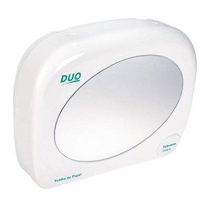 Dispenser plástico para papel toalha e sabonete líquido, com espelho.