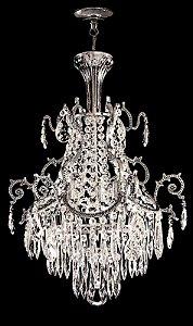 Lustre de Cristal Legitimo Contemporaneo 2 lampadas Cromado