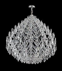 Lustre de Cristal Legitimo Straus 10 lampadas Cromado