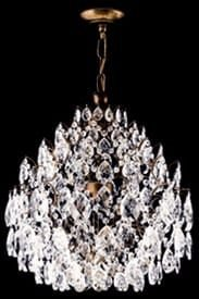 Lustre de cristal Legitimo Asfour Strauss 6 lâmpadas Cromado