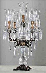 Castiçal de cristal Provence Bivolt - 45x70cm