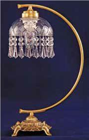 Abajur de cristal Arco Bivolt