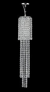 Pendente de Cristal asfour Legitimo 1 lampada Cromado