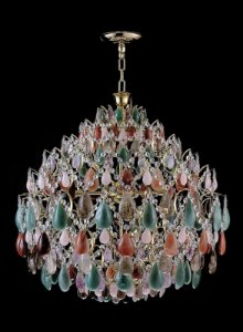 Pendente de cristal de rocha Strauss 8 lampadas