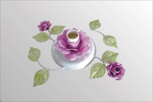 Plafonier de ferro com flores