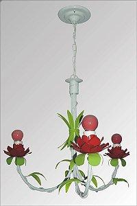 Lustre de ferro com flores Anturio