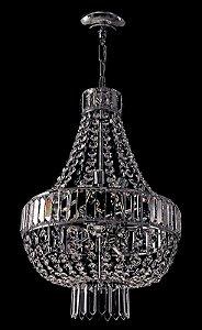 Lustre de Cristal italiano legitimo 6 lampadas Cromado