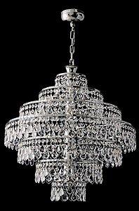 Lustre de cristal legitimo Asfour lapidado 12 lampadas Cromado