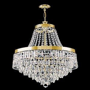 Lustre de Cristal legitimo Italiano contemporaneo 6 lampadas Dourado