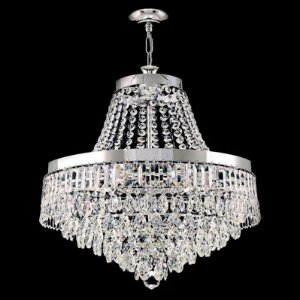 Lustre de Cristal legitimo Italiano redondo 6 lampadas Cromado