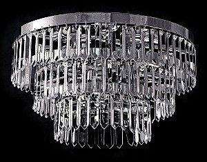 Plafon de cristal asfour Belíssimo 5 lâmpadas cromado