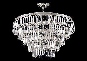 Lustre de Cristal legitimo Asfour 9 lâmpadas Cromado